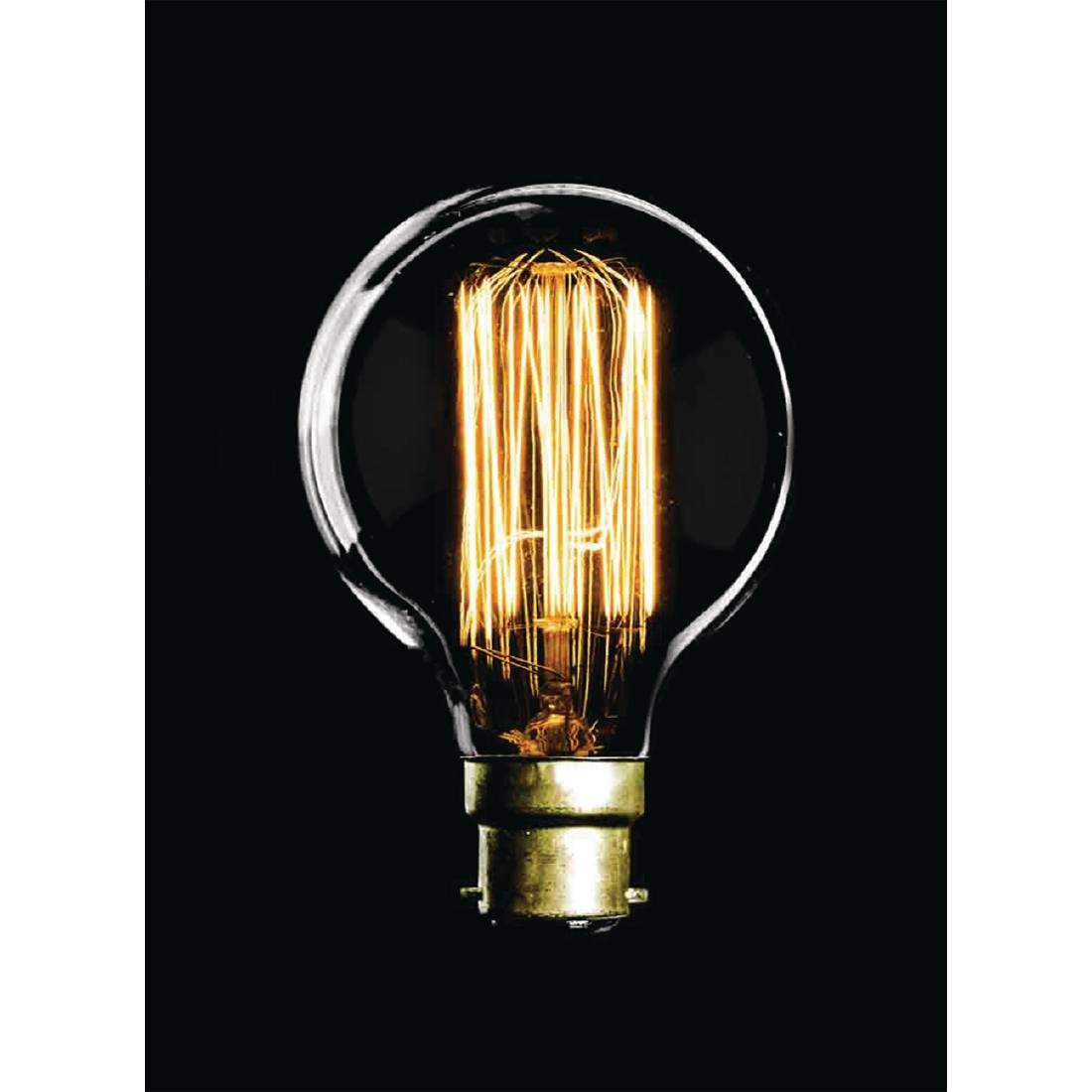 Image of Crystalite CFL Antique Squirrel Cage Golf Ball Bulb Bayonet Cap 60W