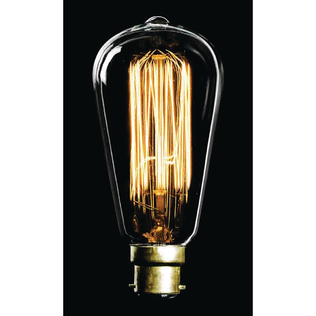 Image of Crystalite CFL Antique Squirrel Cage GLS Bulb Bayonet Cap 60W