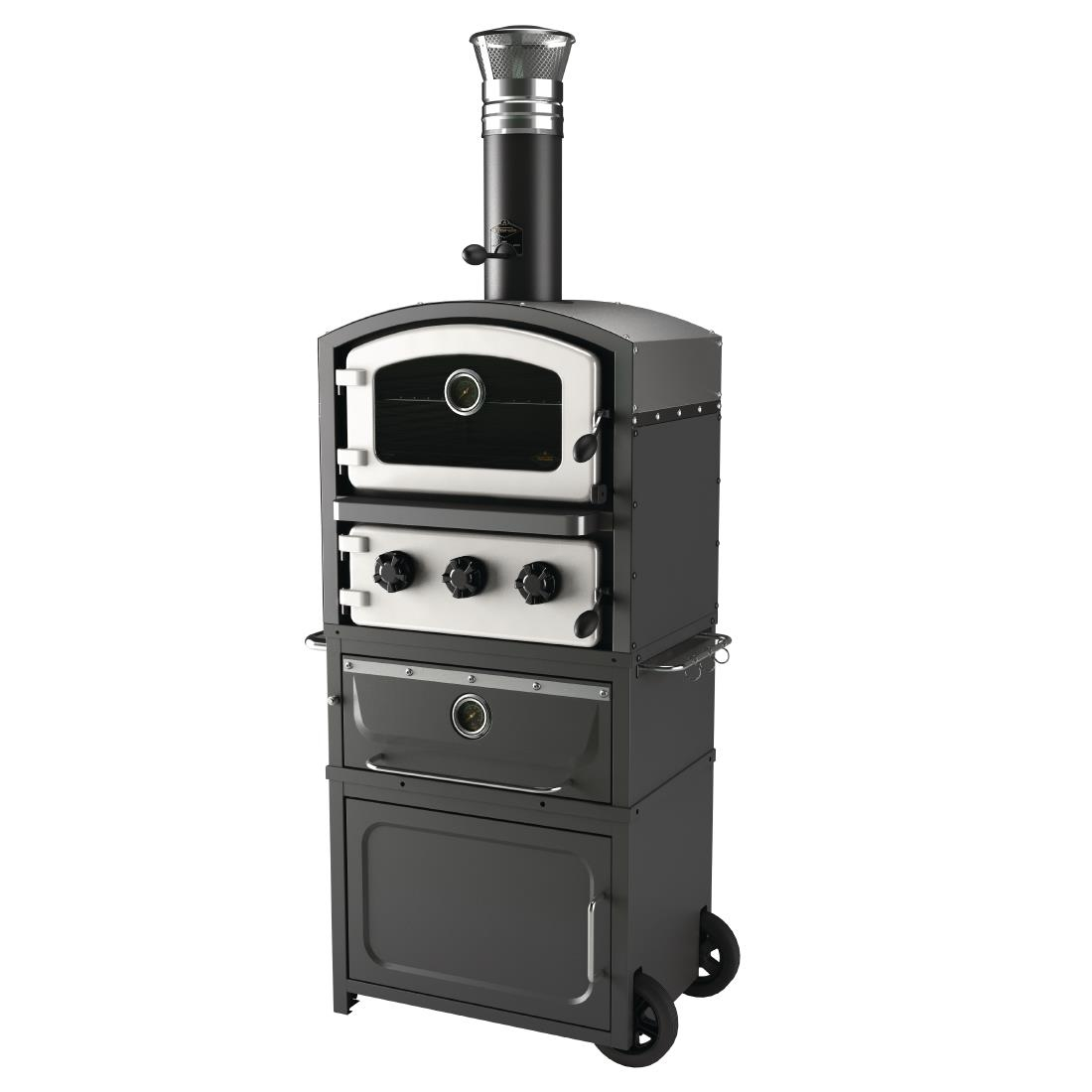 Fornetto Alto Wood Fired Oven and Smoker White GLPZ7EUW