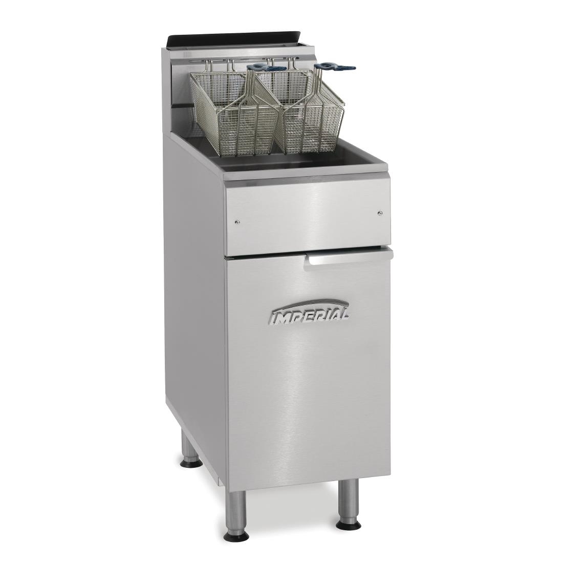 Imperial Single Tank Twin Basket Free Standing Natural Gas Fryer IFS-40-OP