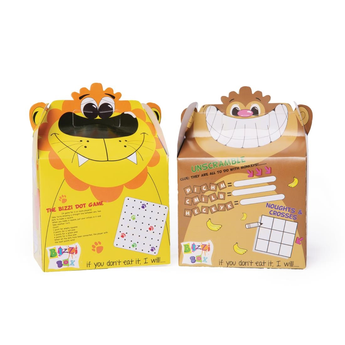 Image of Craftis Kids Bizzi Boxes Assorted Zoo Lion and Monkey (Pack of 200) Pack of 200