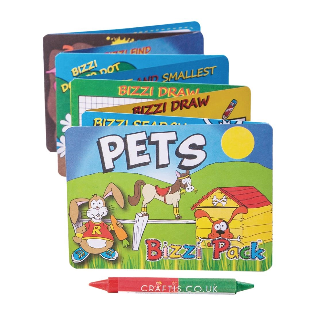 Image of Craftis Kids Activity Pack Assorted Animals (Pack of 400) Pack of 400