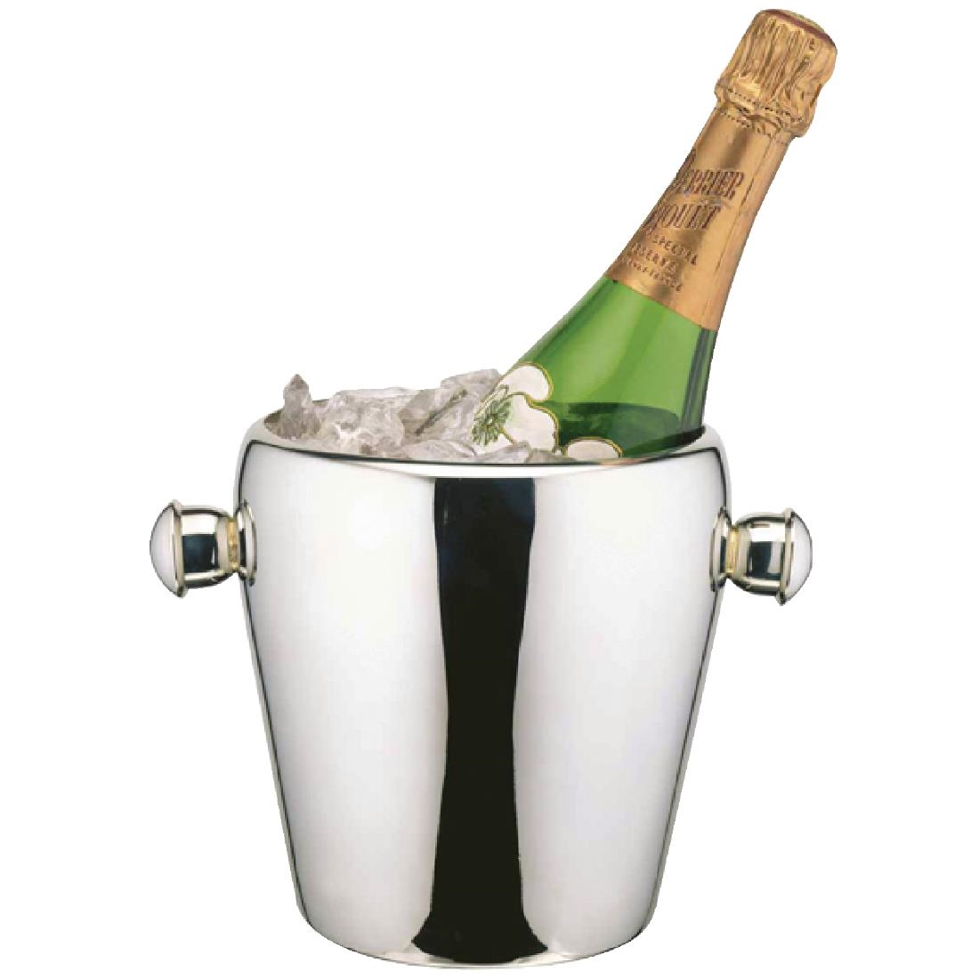 elia polished stainless steel wine and champagne bucket  cp  - eliawinebucket eliawinebucket