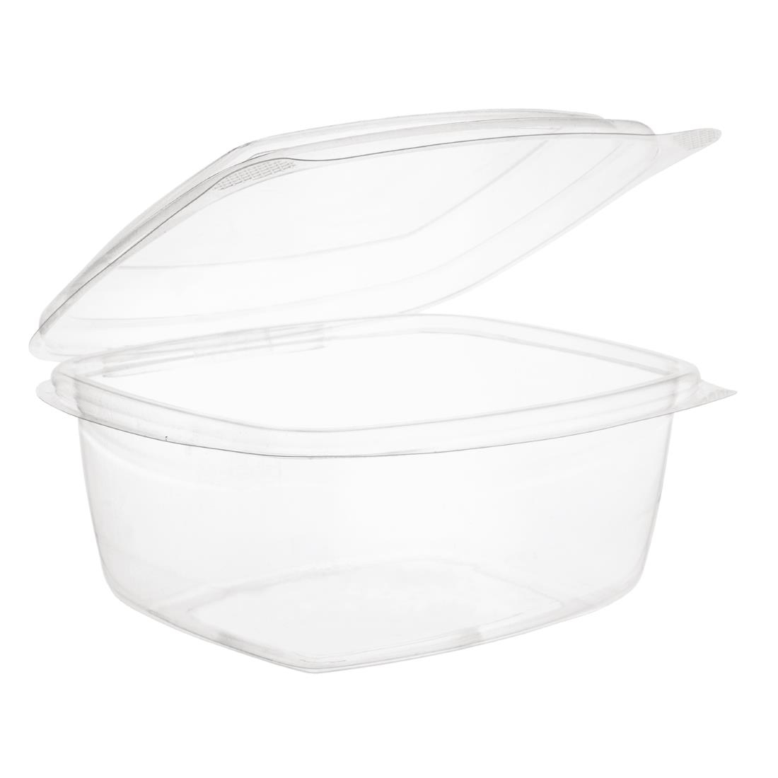 Vegware Compostable PLA Hinged-Lid Deli Containers 500ml / 17oz Pack of 300