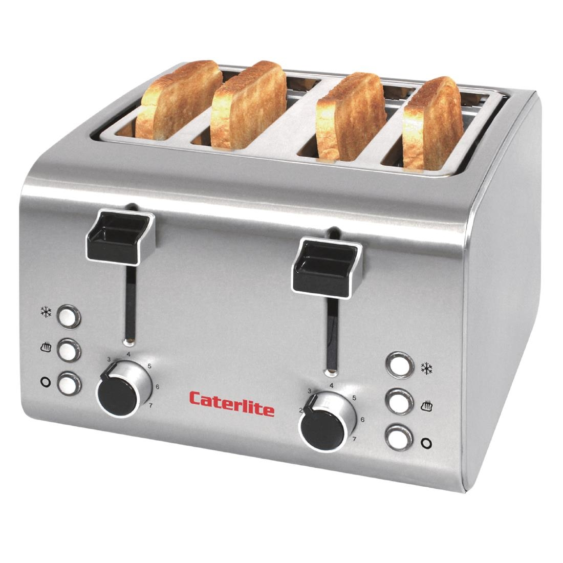 Image of Caterlite 4 Slot Stainless Steel Toaster