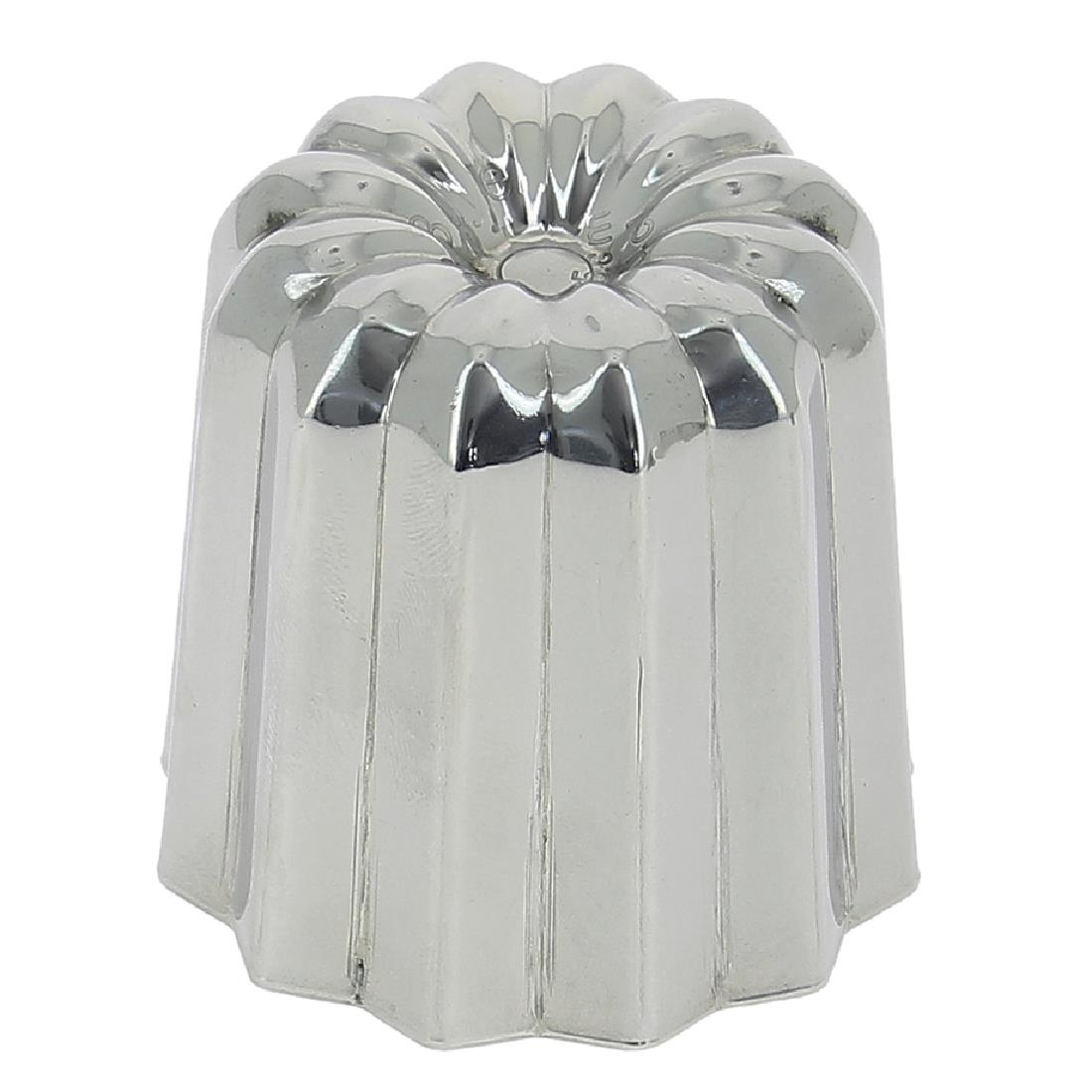 DeBuyer Stainless Steel Canele Fluted Mould 55mm