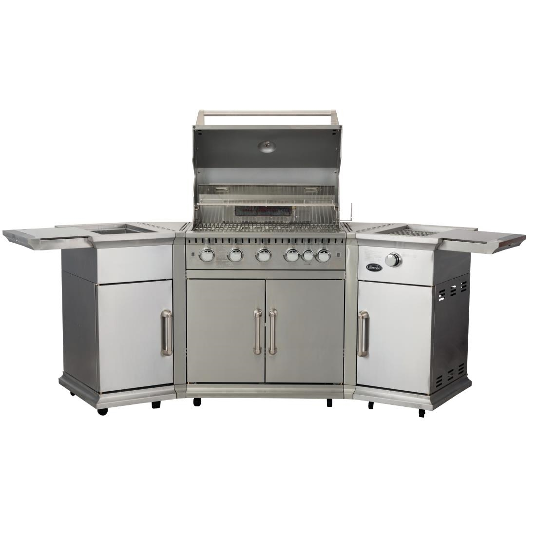 Image of Lifestyle Bahama Island Gas BBQ c/w Rotisserie & Cover LFS680P