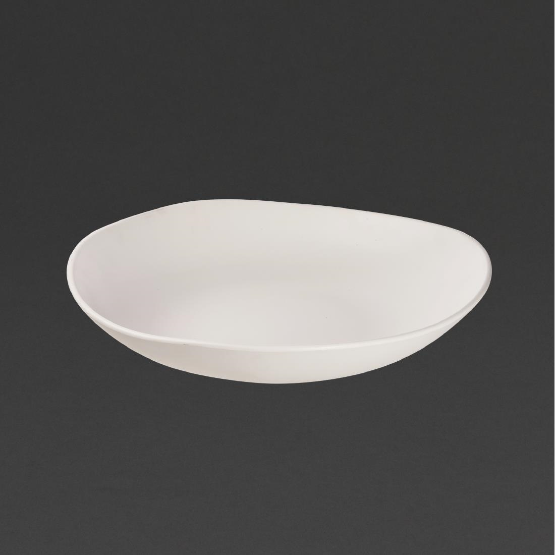 Image of Churchill Alchemy Melamine Trace Bowls White 380mm (Pack of 2) Pack of 2