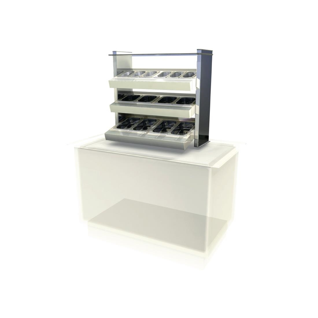 Kubus Drop In Ambient Cutlery/Condiment Unit KCCU2