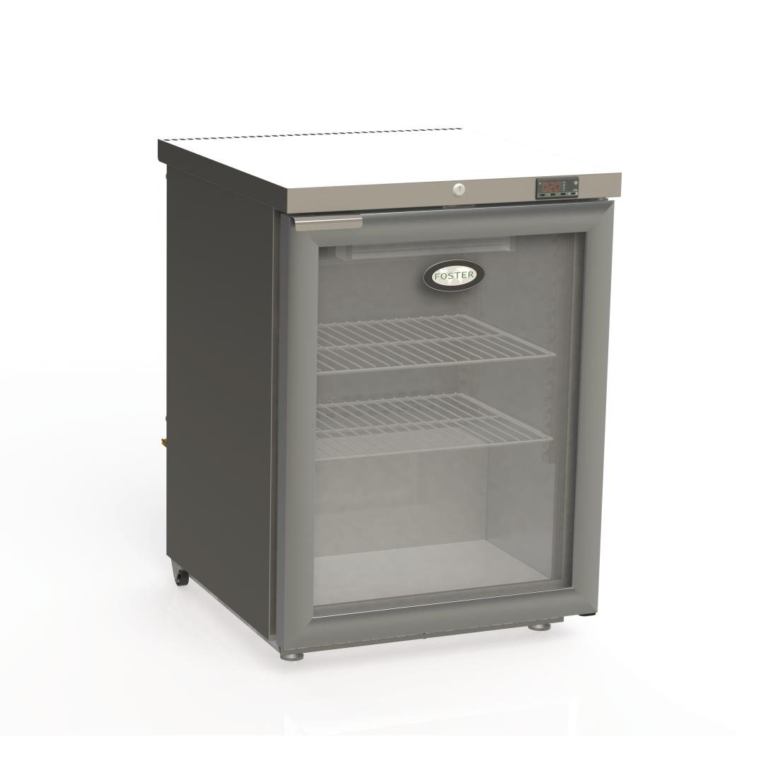 Foster 1 Glass Door 150Ltr Under Counter Fridge HR150 13/107