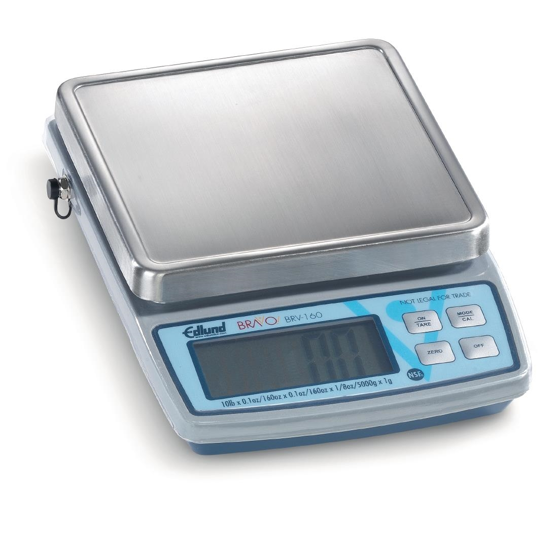 Edlund Bravo 160 Digital Scale with Clearshield Protective Cover 4.5 ...
