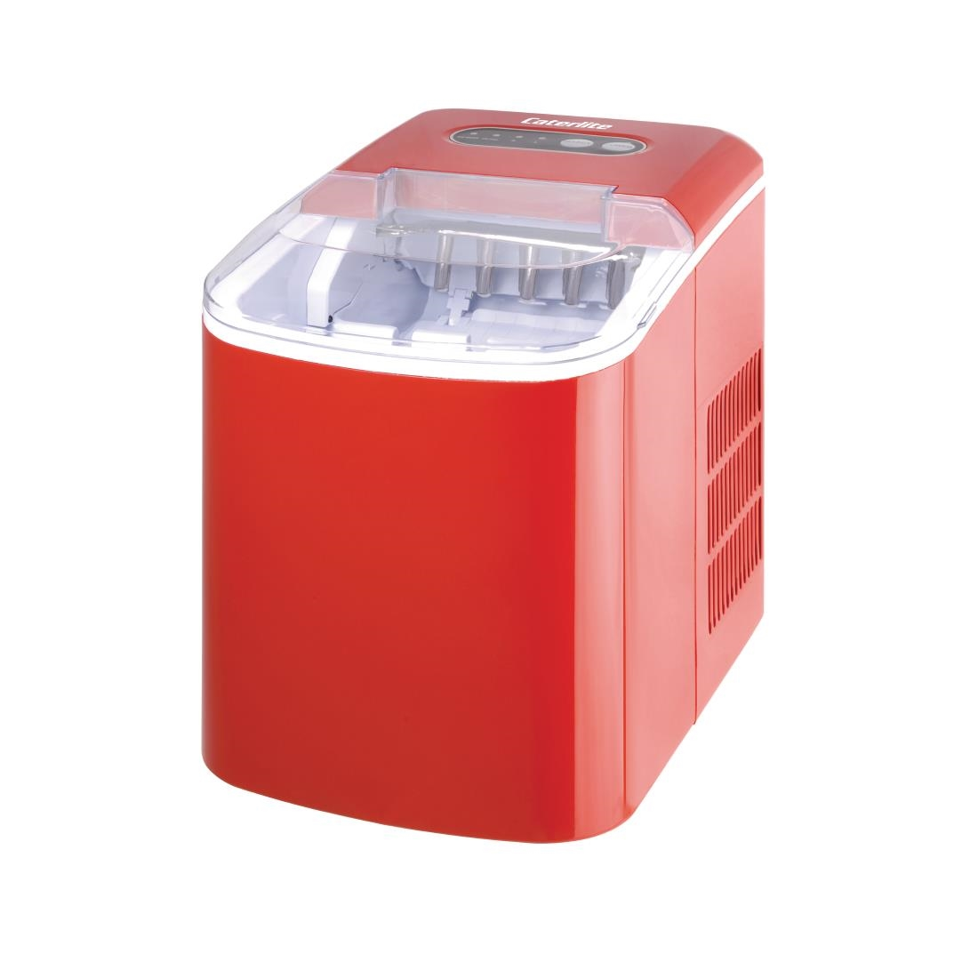 Image of Caterlite Countertop Manual Fill Ice Machine Red
