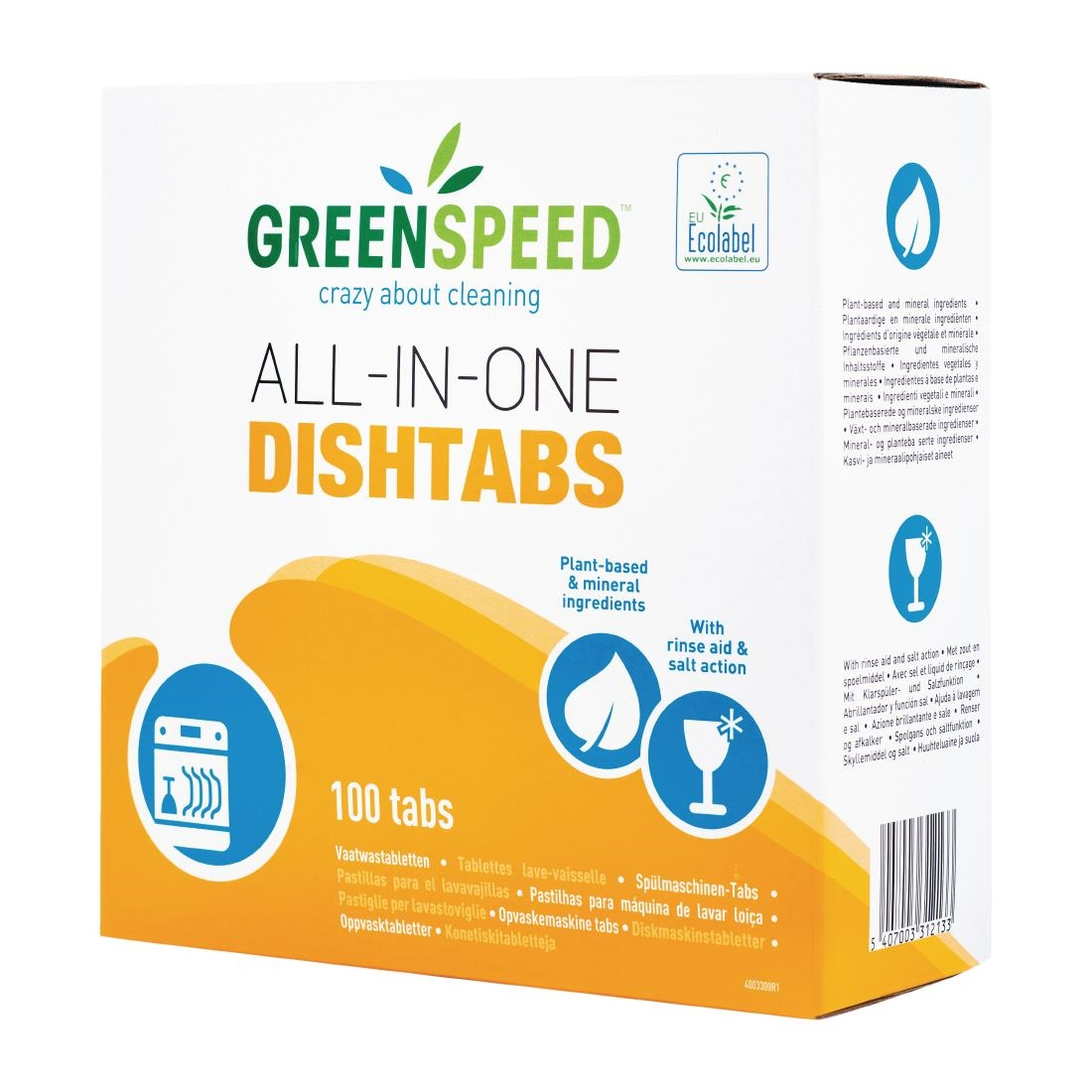 Image of Greenspeed All-in-One Dishwasher Tablets (5 x 100 Pack) Pack of 5