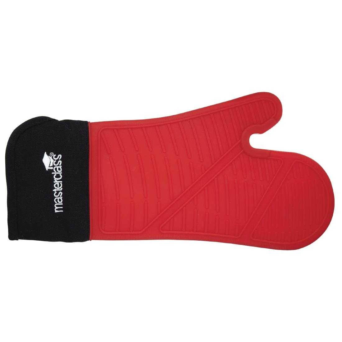 MasterClass Seamless Silicone Oven Mitt with Cotton Sleeve