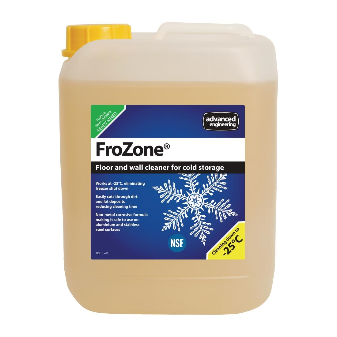 Image of FroZone Low Temperature Refrigerator and Freezer Cleaner Ready To Use 5Ltr (4 Pack) Pack of 4