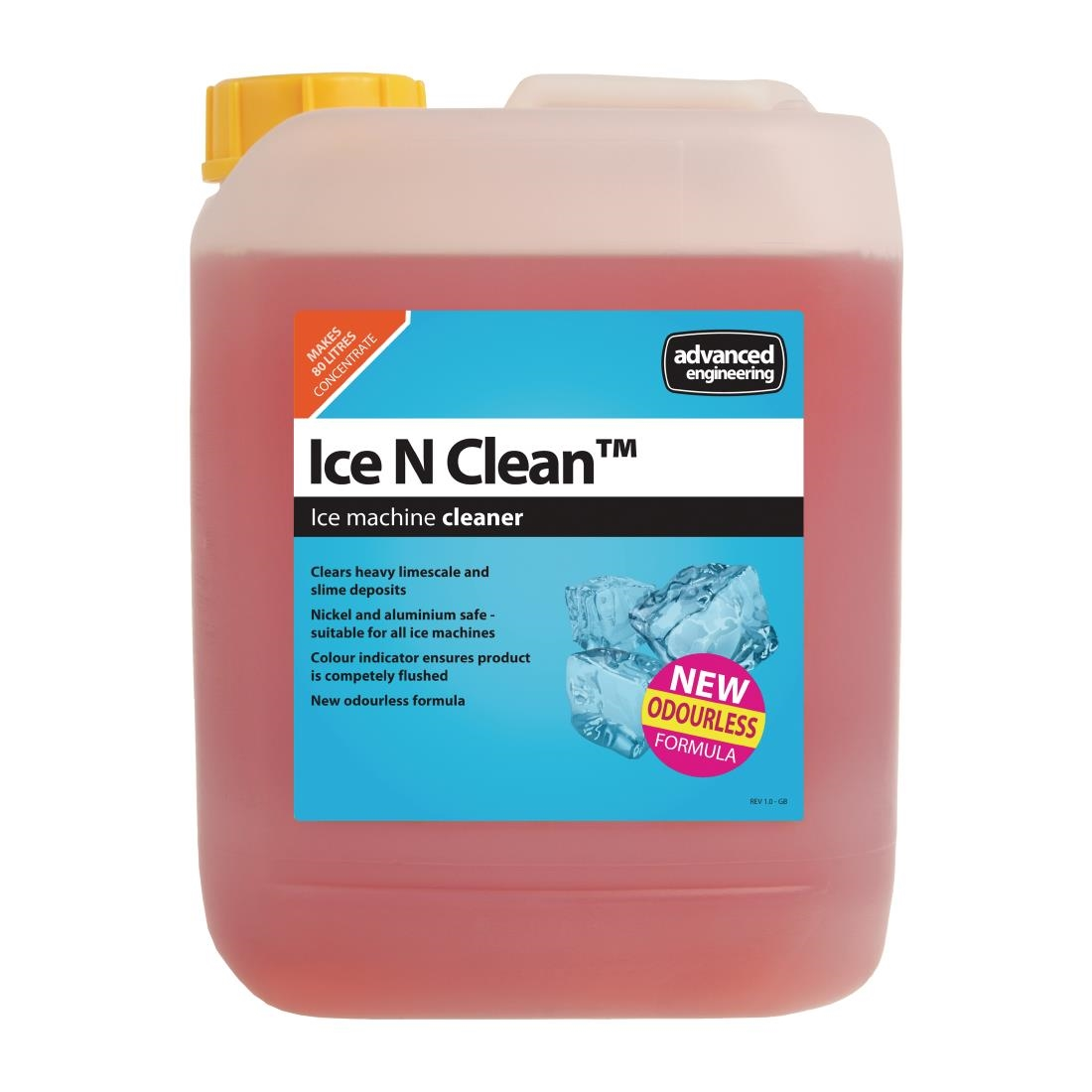 Image of Ice N Clean Ice Machine Cleaner and Disinfectant Concentrate 5Ltr (4 Pack) Pack of 4