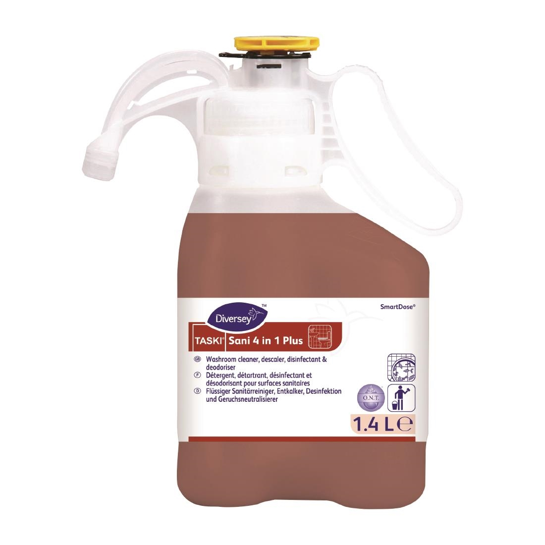 Image of Diversey TASKI Sani 4-in-1 Plus SmartDose Washroom Cleaner Super Concentrate 1.4Ltr