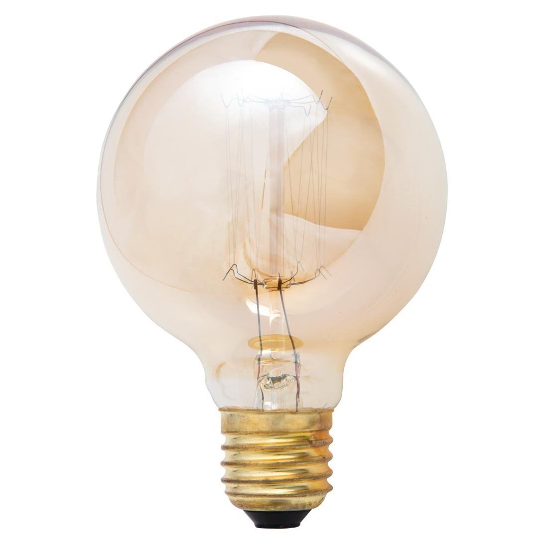 Image of Crystalite G80 Squirrel Cage Filament Antique Lamp ES 60W
