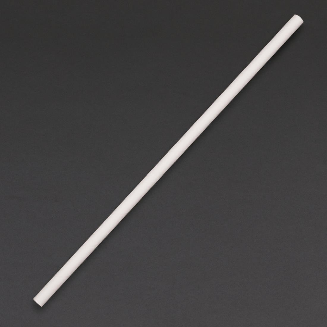 Fiesta Green Biodegradable Paper Straws White Pack of 250