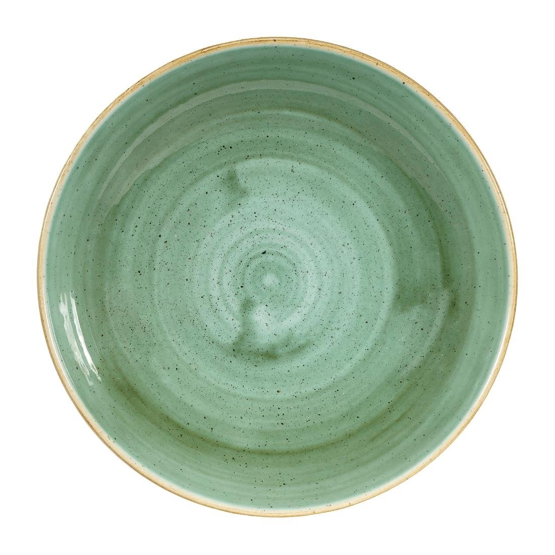 Click to view product details and reviews for Churchill Stonecast Round Coupe Bowls Samphire Green 248mm Pack Of 12.