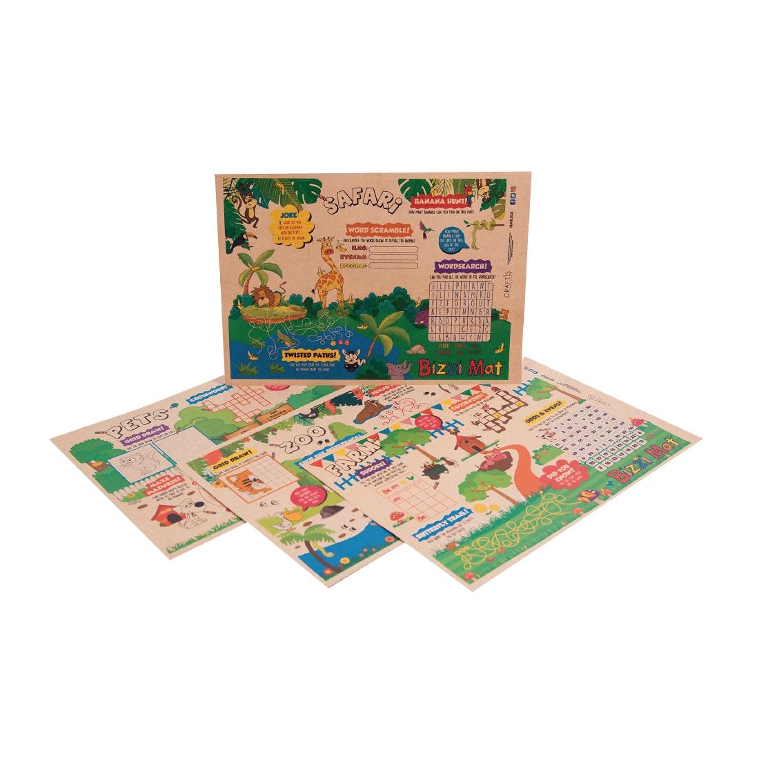 Image of Craftis Kids Recycled Kraft Bizzi Activity Mats (Pack of 500) Pack of 500