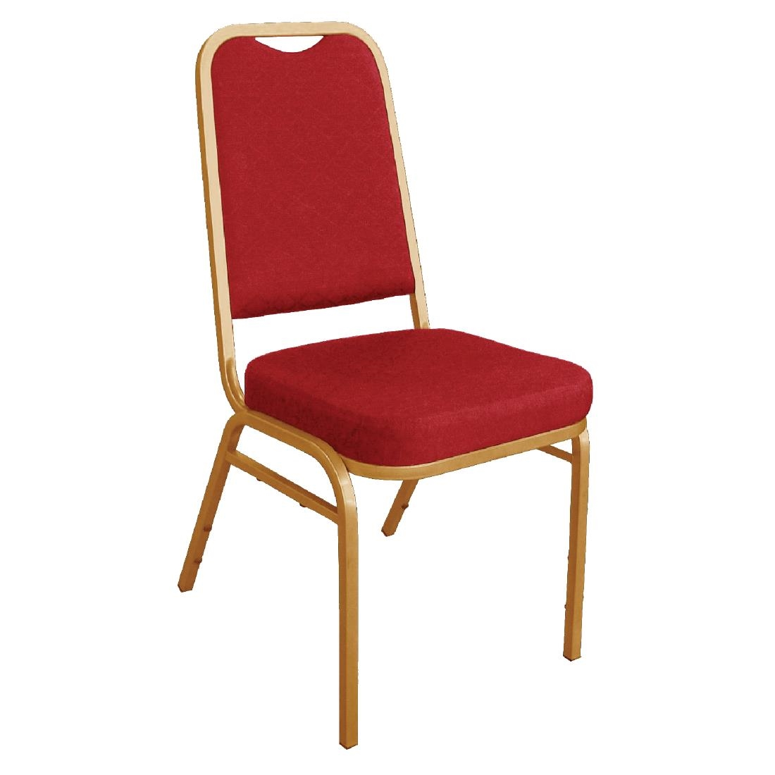 bolero squared back banquet chair red (pack of 4) - dl016 - buy