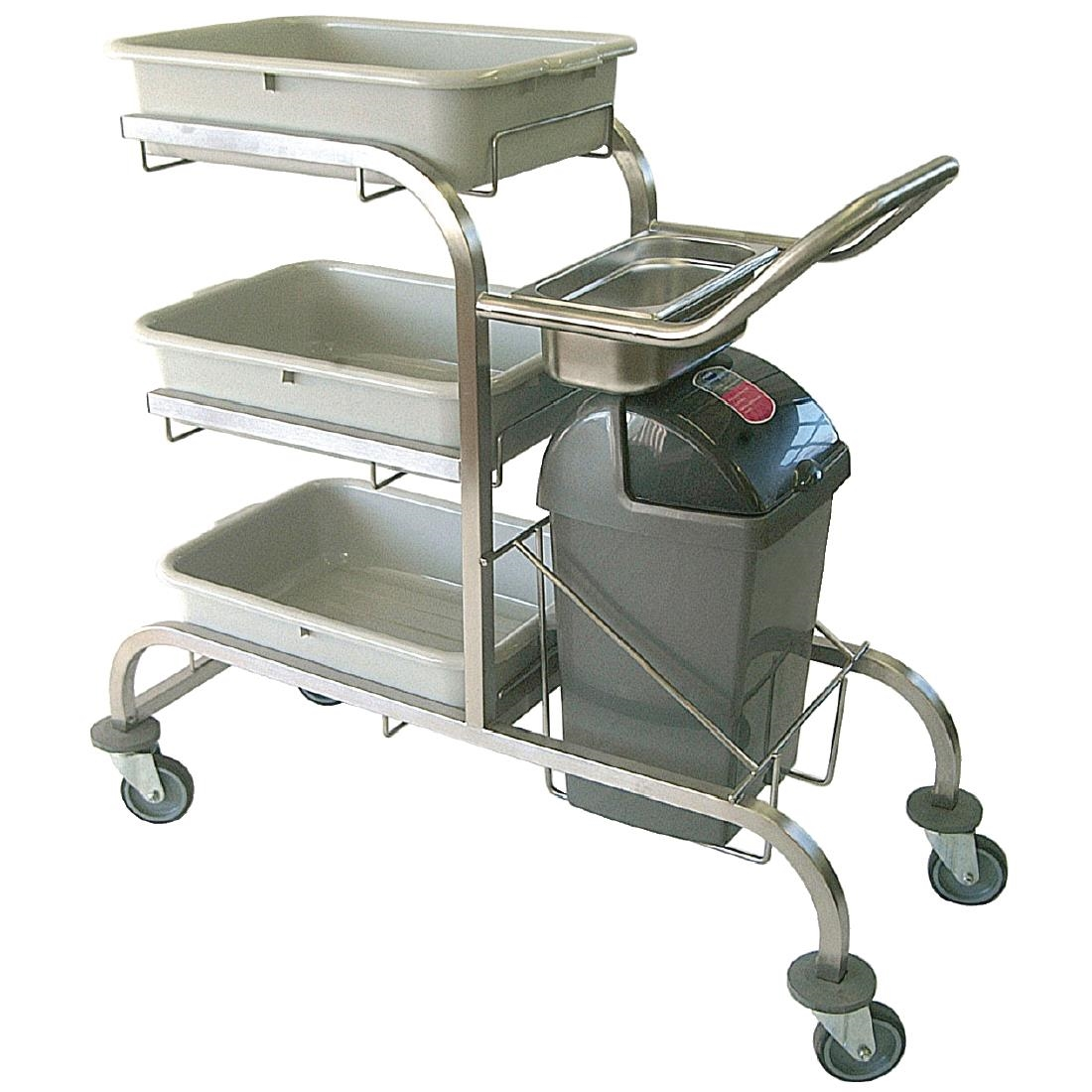 Image of Craven 3 Tier Stainless Steel Bussing Trolley