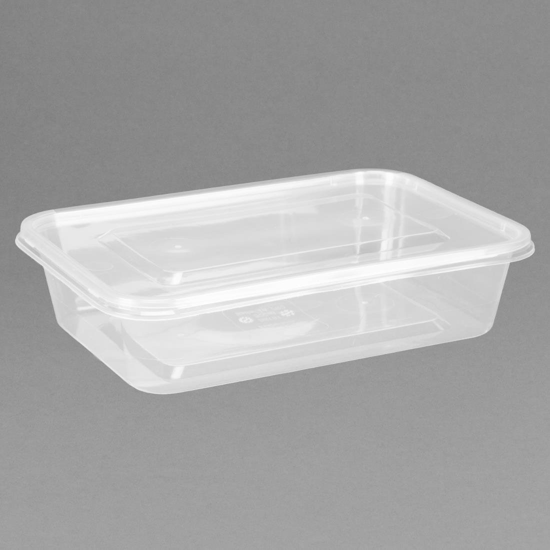 Image of Fiesta Plastic Microwavable Containers with Lid Small 500ml (Pack of 250) Pack of 250