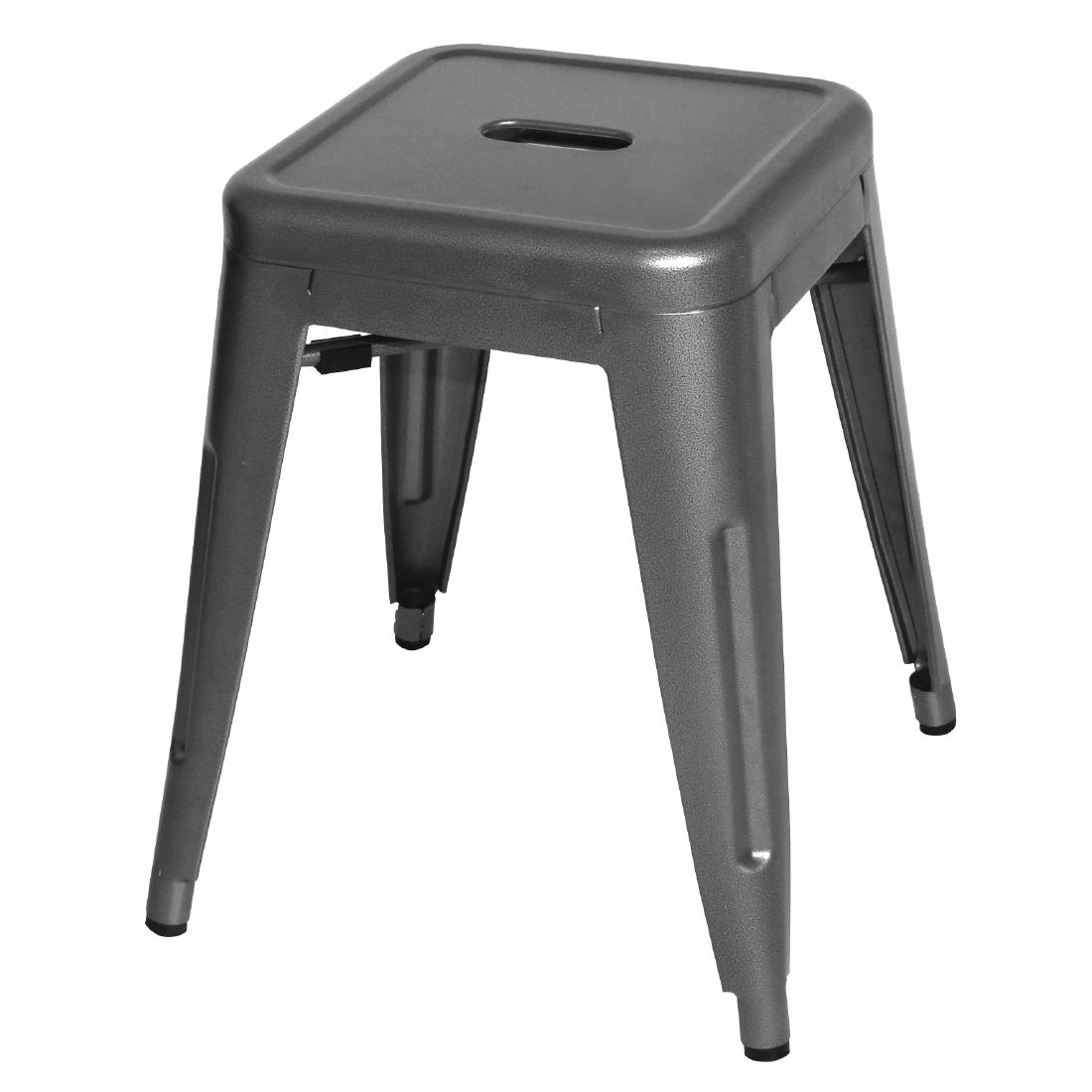 Swell Bolero Bistro Steel Low Stool Gun Metal Pack Of 4 Gmtry Best Dining Table And Chair Ideas Images Gmtryco