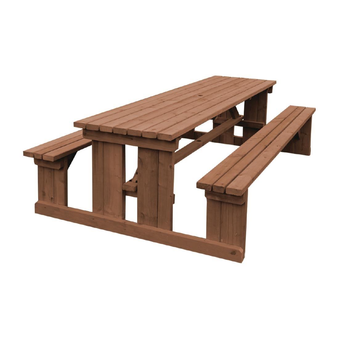 Phenomenal Bolero Walk In Picnic Bench Rustic Brown 8Ft Andrewgaddart Wooden Chair Designs For Living Room Andrewgaddartcom
