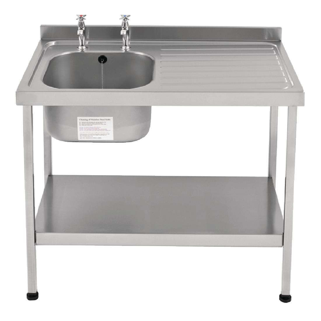 Image of Franke Sissons Self Assembly Stainless Steel Sink Right Hand Drainer 1000x600mm