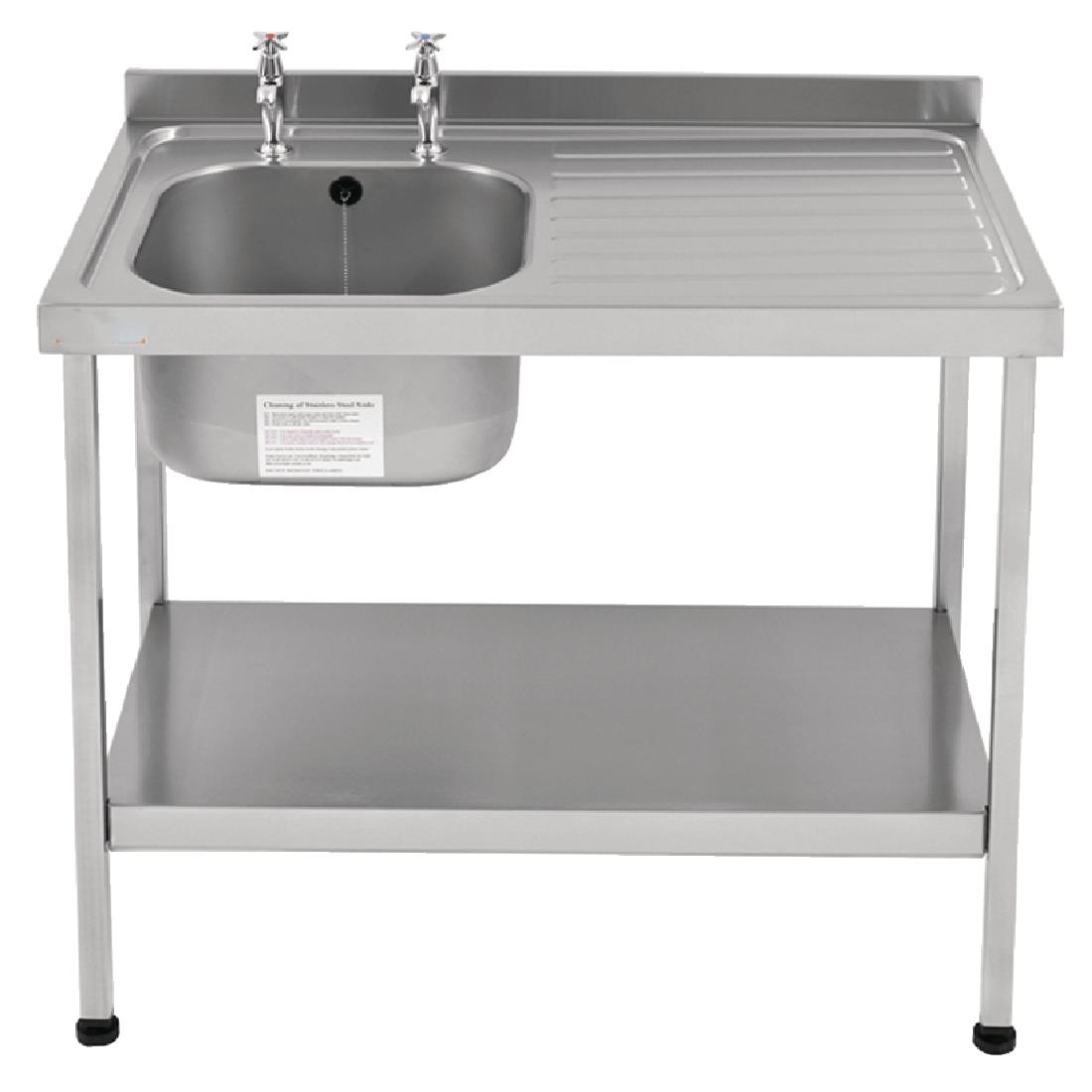 Image of Franke Sissons Self Assembly Stainless Steel Sink Right Hand Drainer 1200x600mm