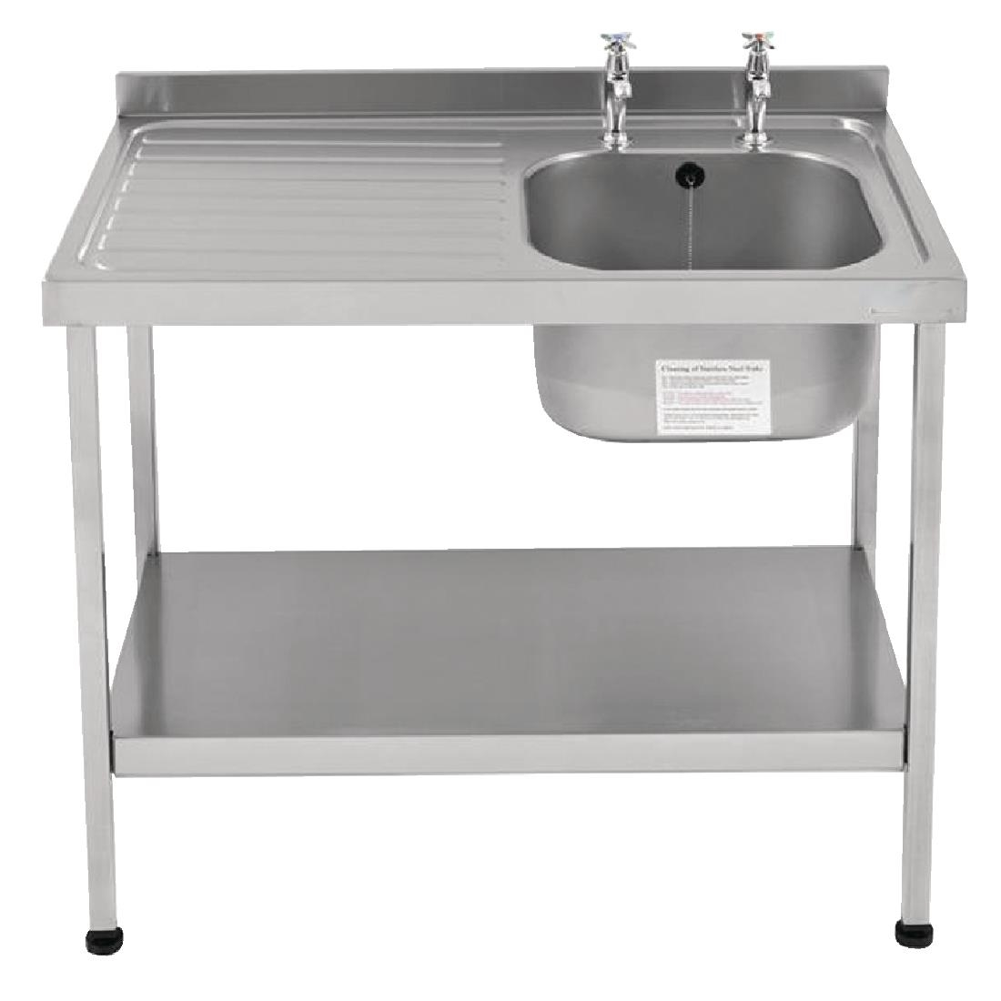 Image of Franke Sissons Self Assembly Stainless Steel Sink Left Hand Drainer 1200x600mm
