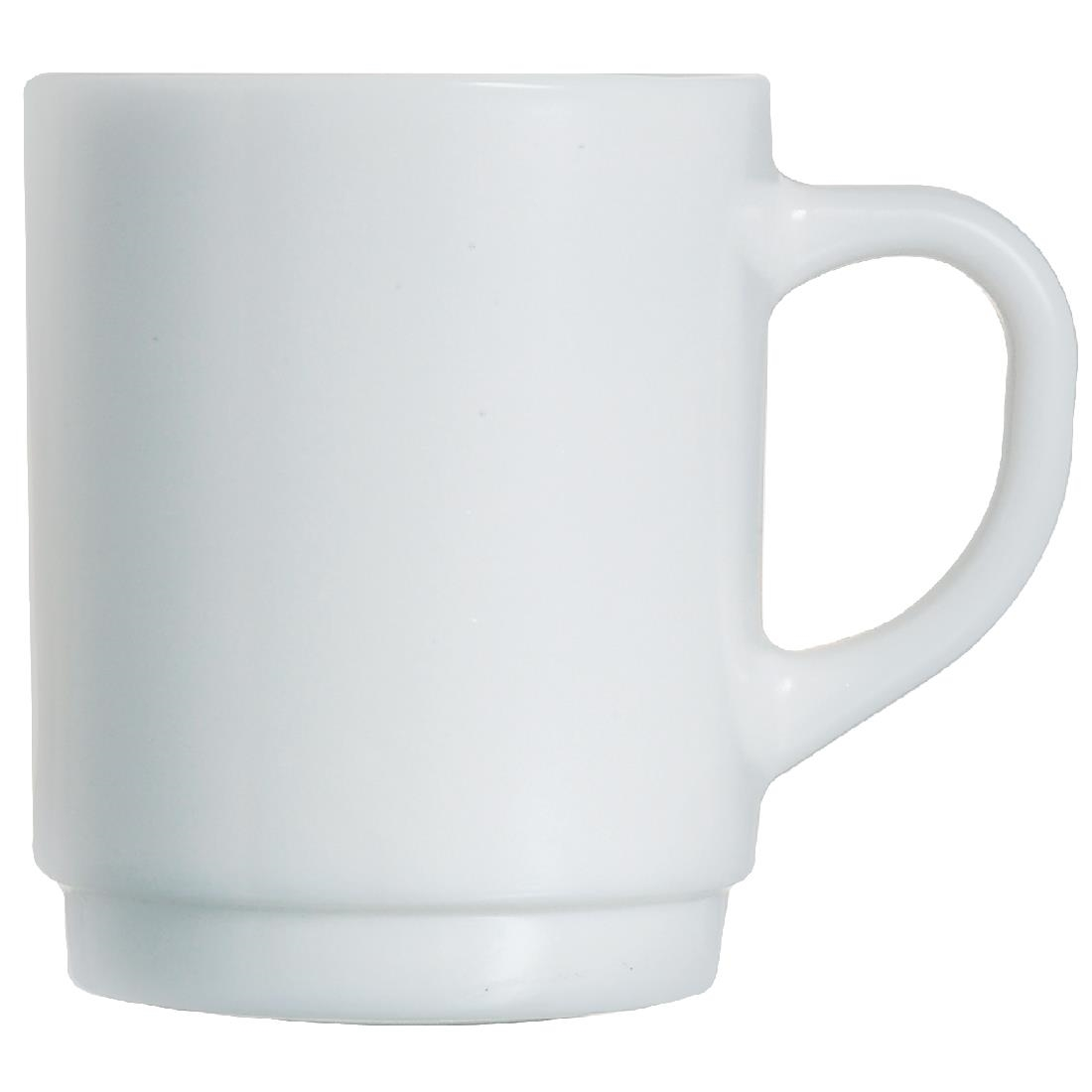 Image of Arcoroc Opal Stackable Mugs 290ml (Pack of 6) Pack of 6