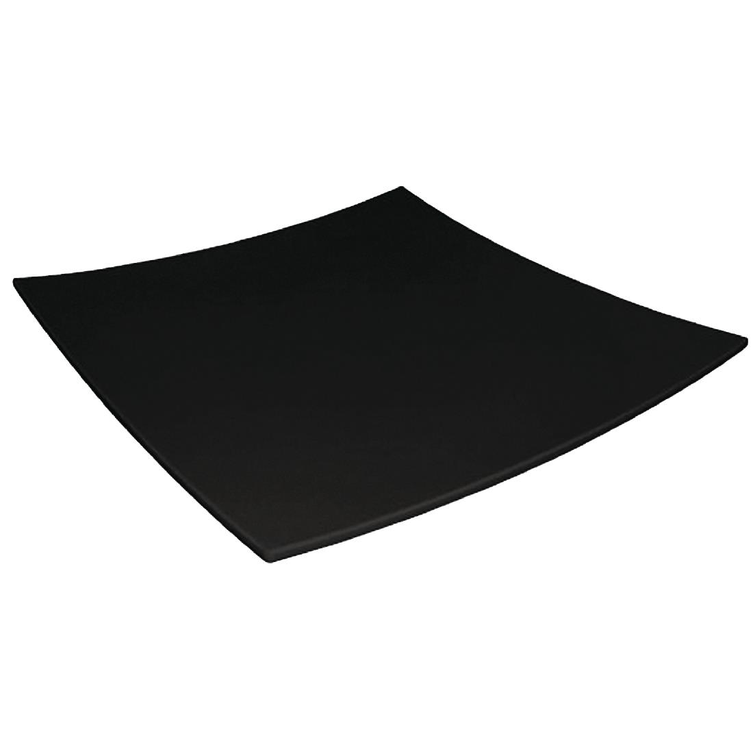 Image of Curved Square Melamine Plate Black 300mm
