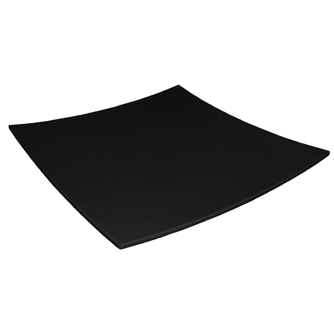 Image of Curved Square Melamine Plate Black 400mm