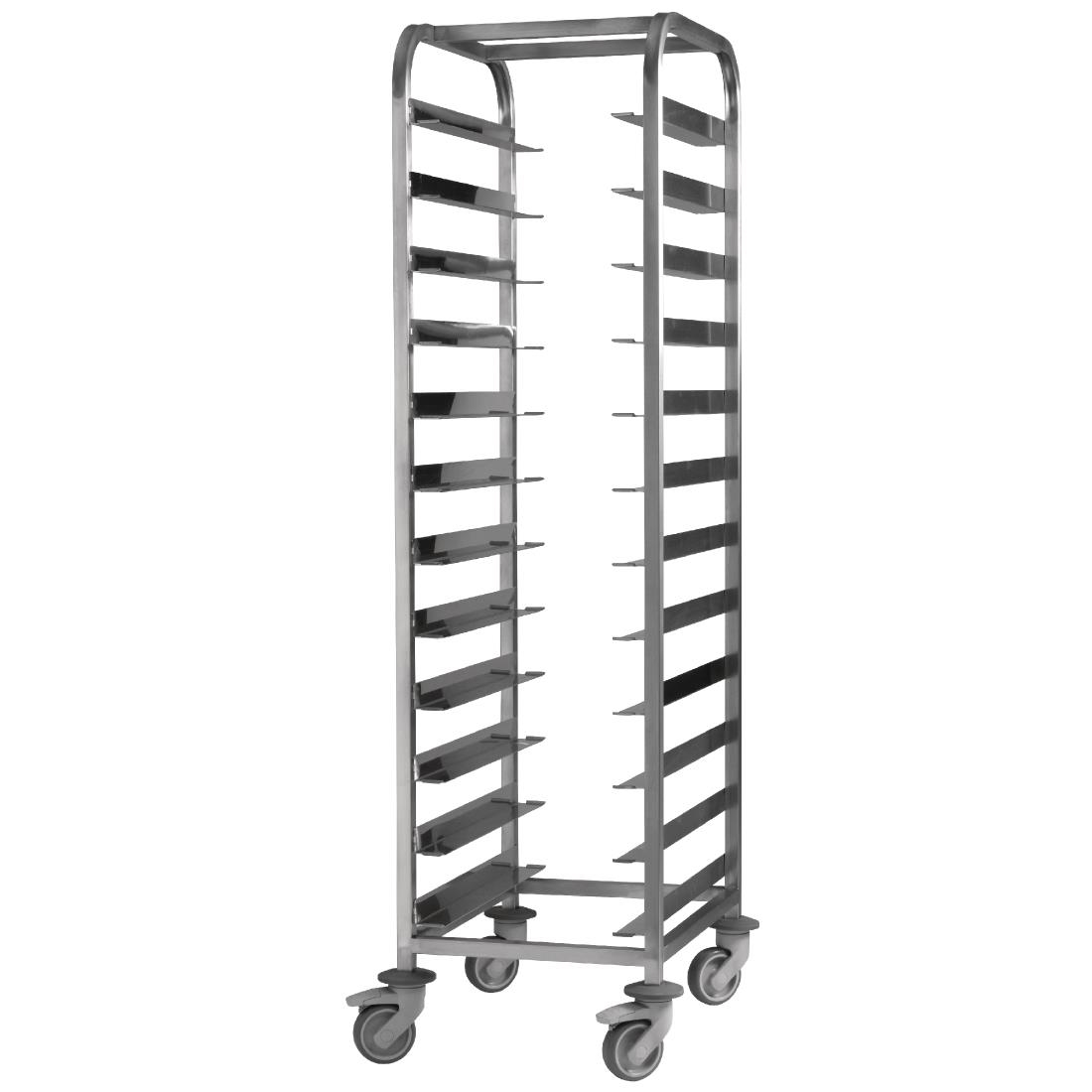 Image of EAIS Stainless Steel Clearing Trolley 12 Shelves