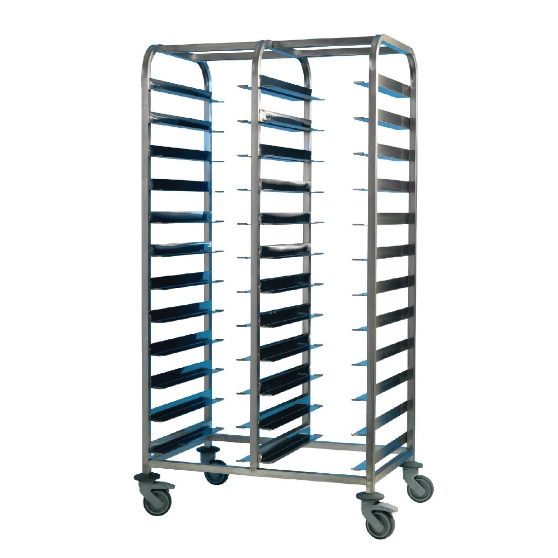 Image of EAIS Stainless Steel Clearing Trolley 24 Shelves