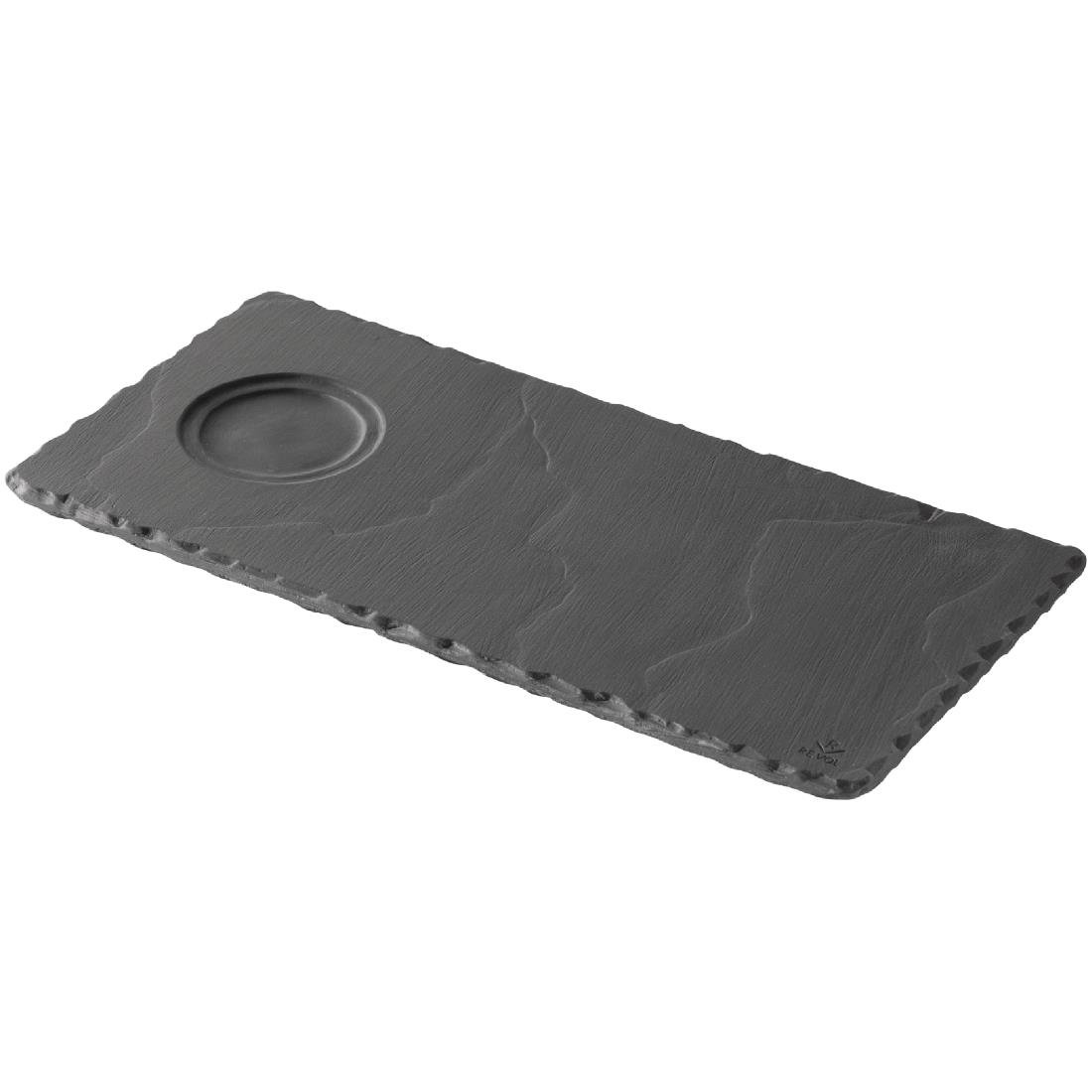 Revol Basalt Tray with Cup Indents 250mm Pack of 6