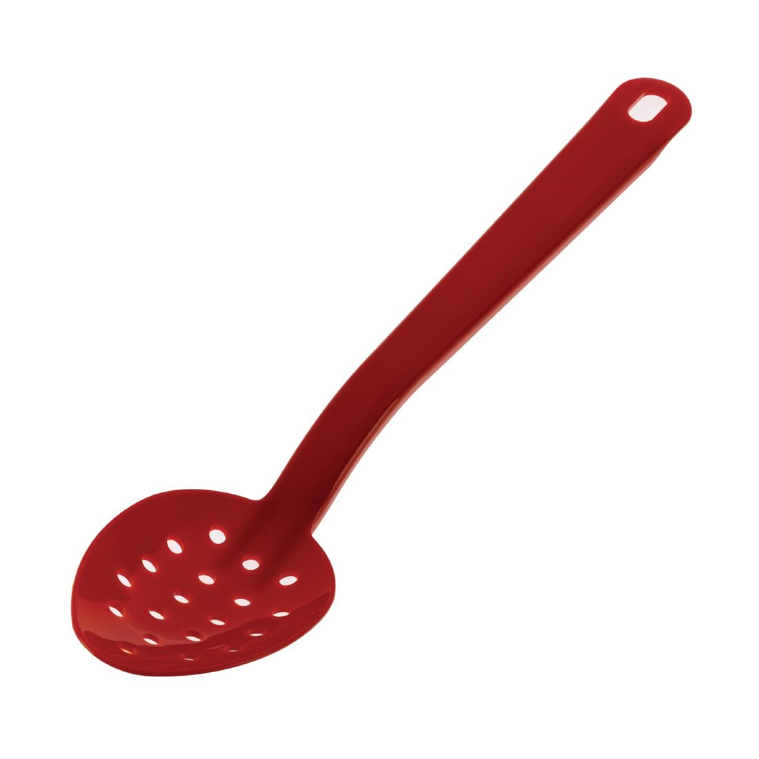 Image of Matfer Bourgeat Exoglass Perforated Serving Spoon Red 13