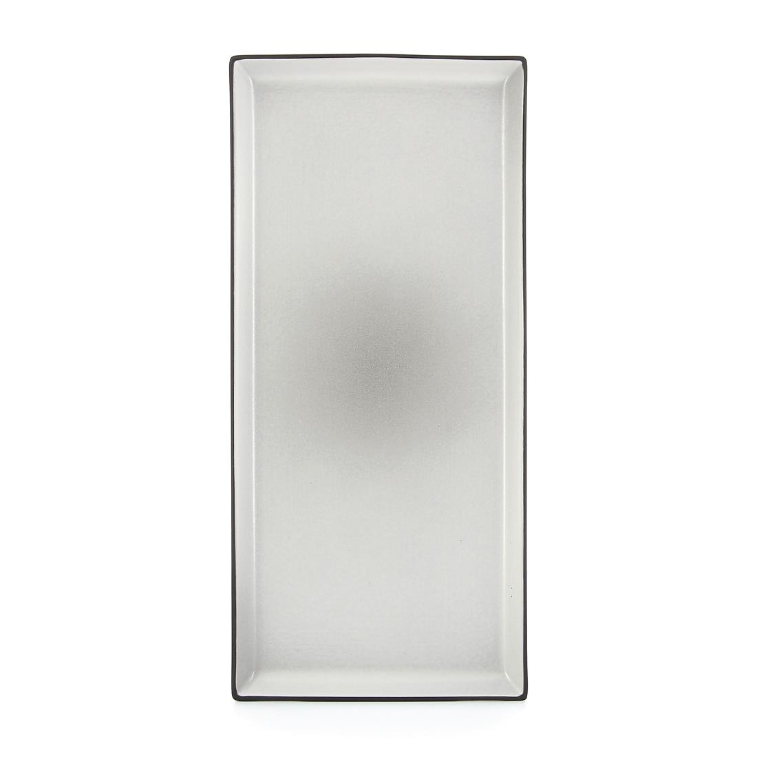 Click to view product details and reviews for Revol Equinoxe Rectangular Plates Pepper Grey 325mm Pack Of 4.