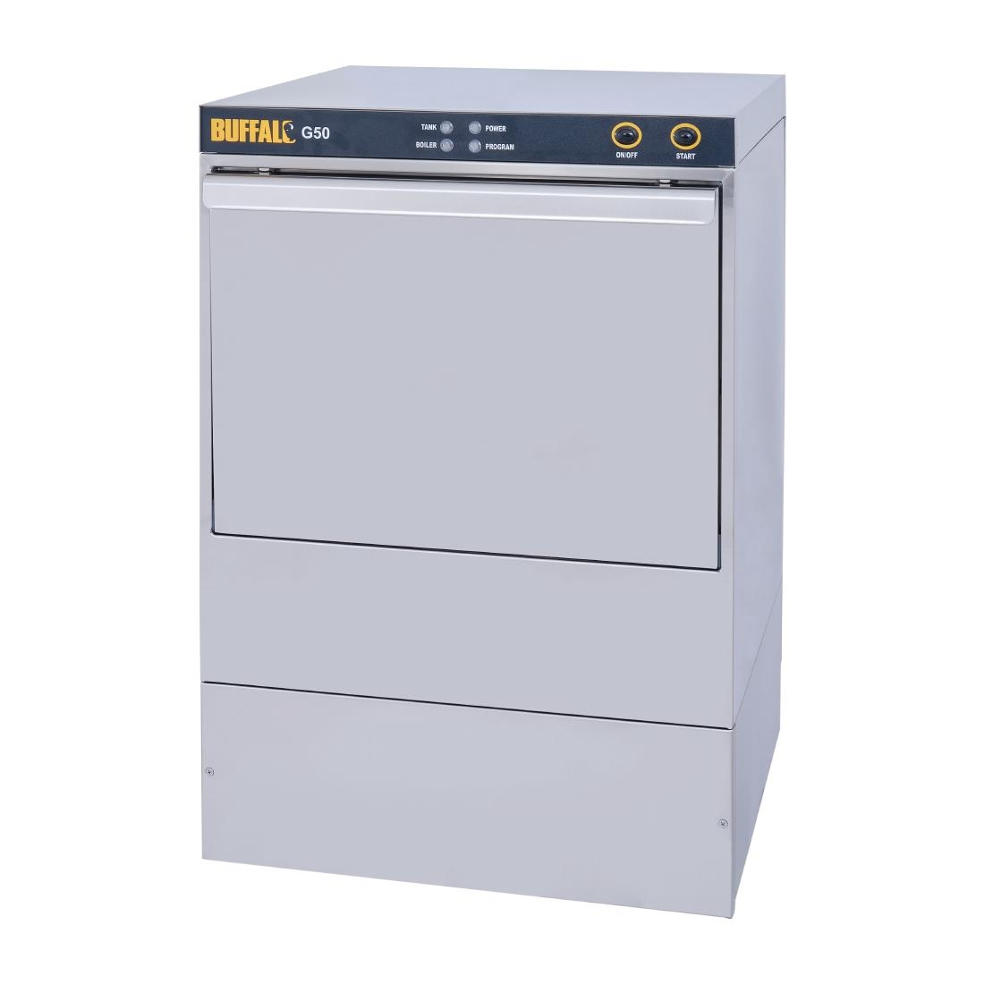 Image of Buffalo Undercounter Glasswasher with Drain Pump 500x500mm Baskets