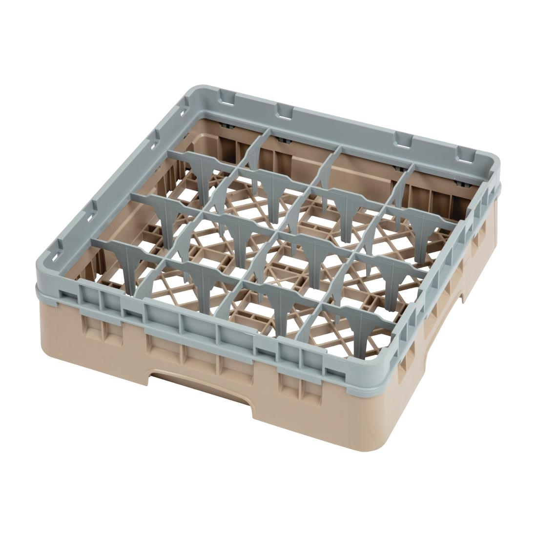 Cambro Camrack Beige 16 Compartments Max Glass Height 92mm