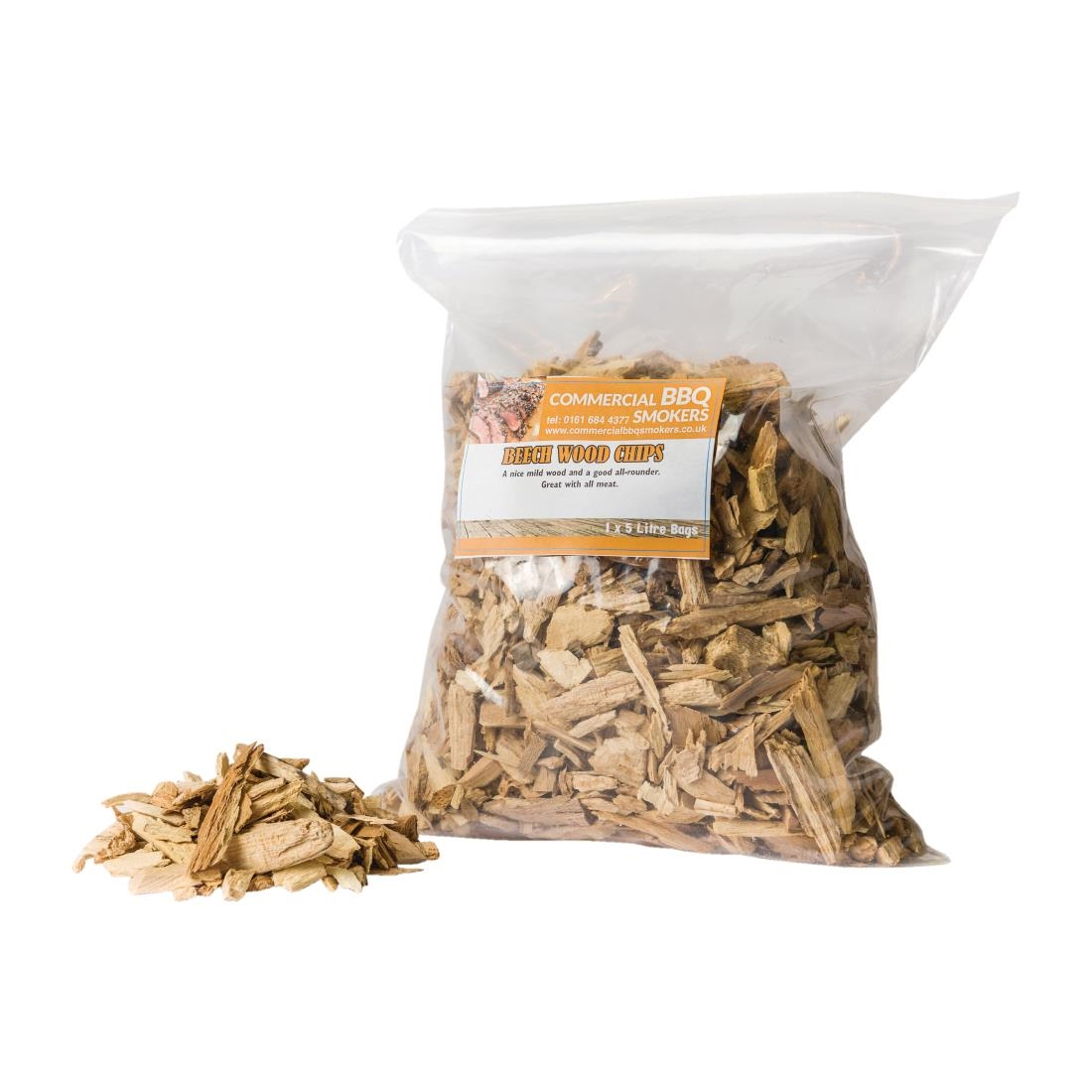 Blackwood Smoking Chips Beech 5 Litre Bags (Pack of 4) Pack of 4