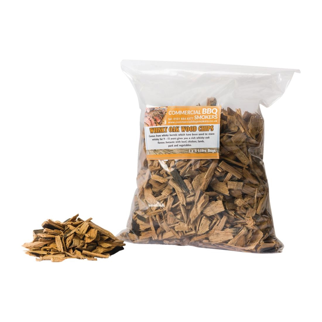Blackwood Smoking Chips Whisky 5 Litre Bags (Pack of 4) Pack of 4
