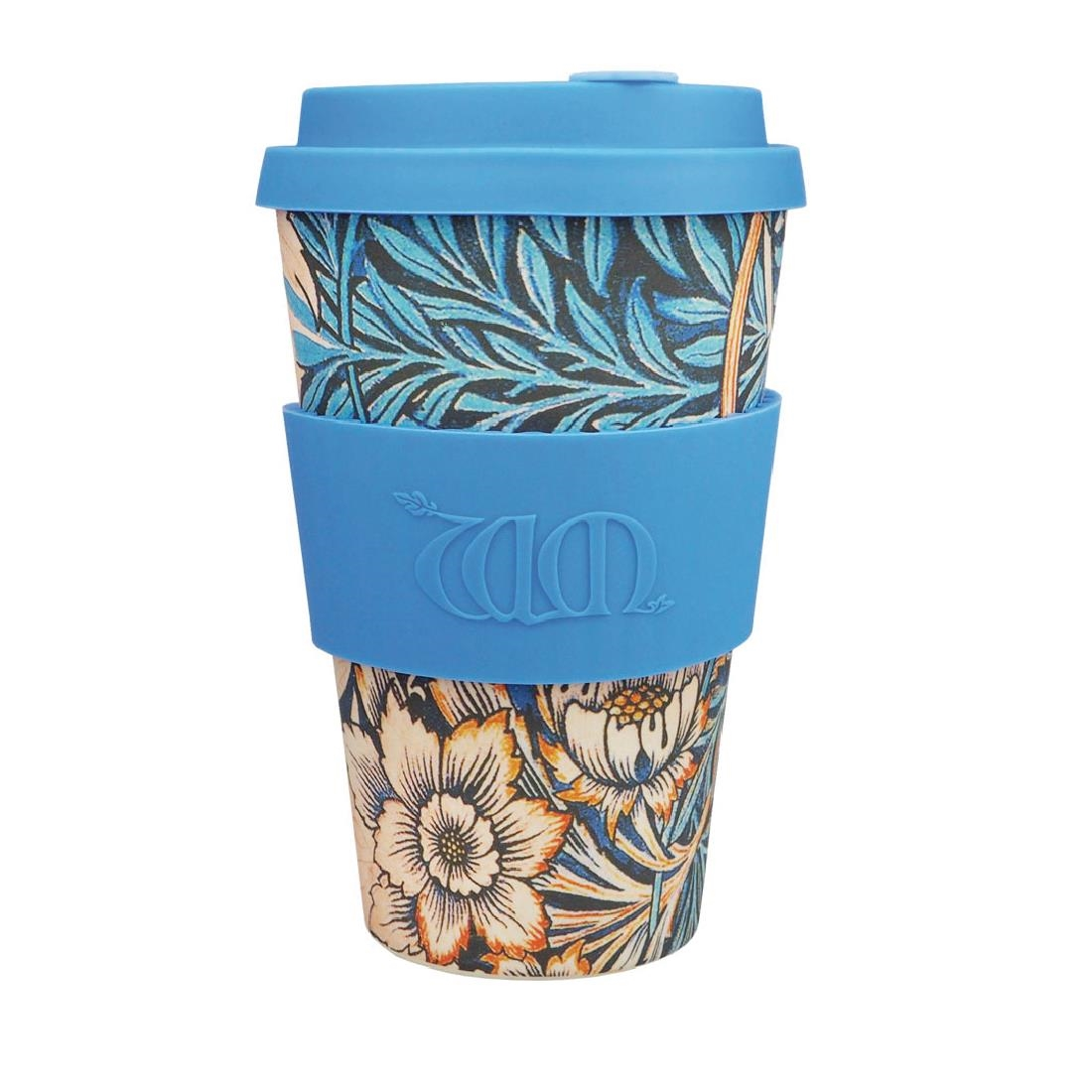 Image of Ecoffee Cup Bamboo Reusable Coffee Cup Lily William Morris 14oz