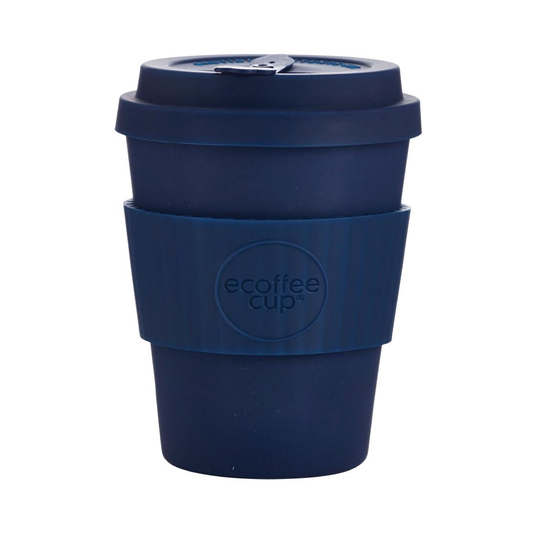 Image of Ecoffee Cup Bamboo Reusable Coffee Cup Dark Energy Navy 12oz