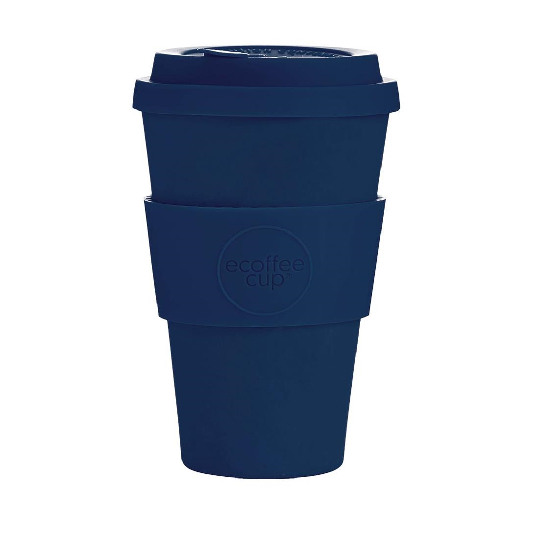 Image of Ecoffee Cup Bamboo Reusable Coffee Cup Dark Energy Navy 14oz
