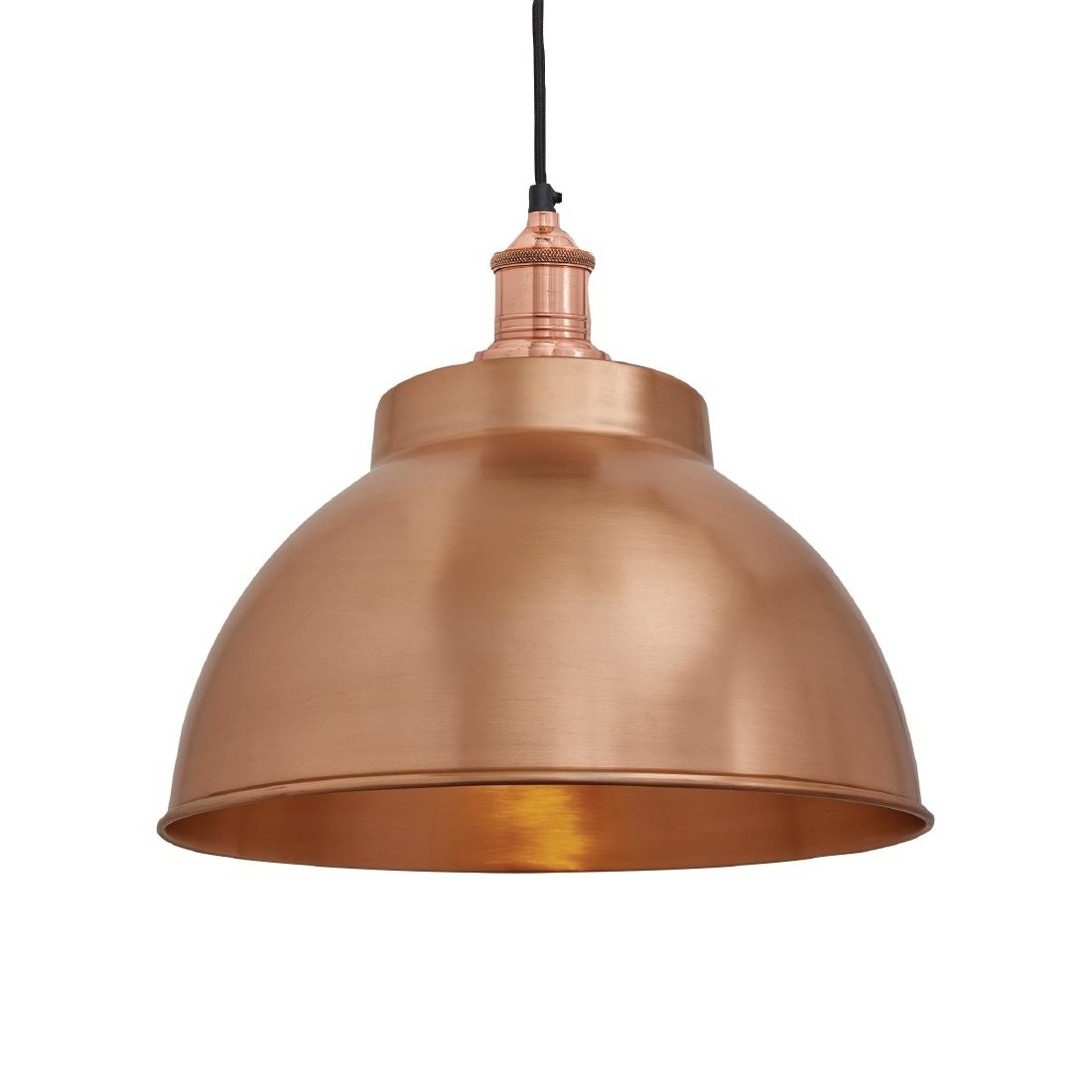 Image of Industville Brooklyn Dome Pendant Light Copper 330mm