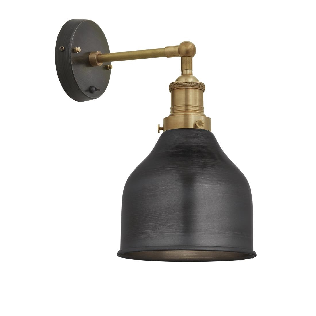 Image of Industville Brooklyn Cone Wall Light Pewter 180mm
